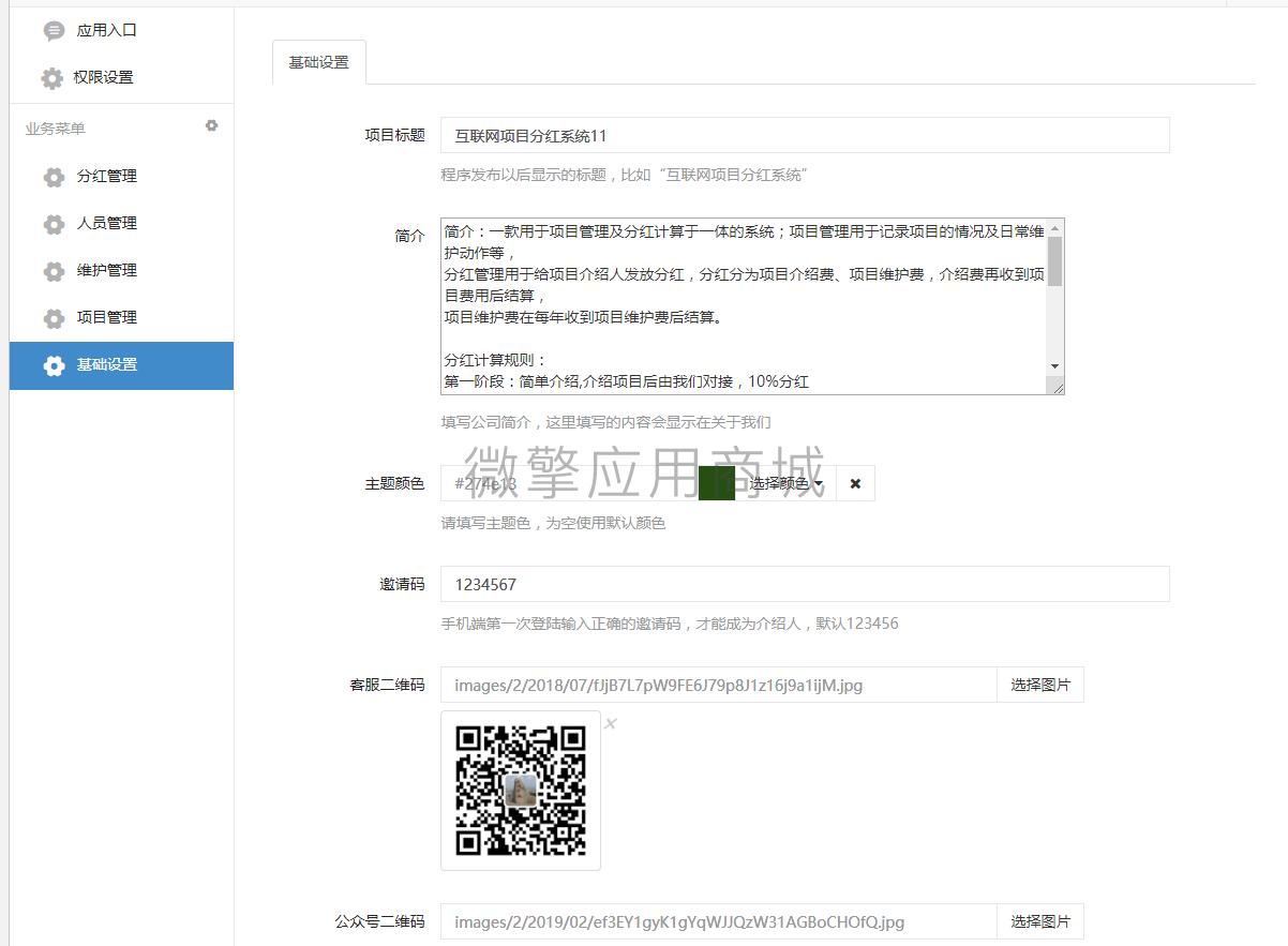 wq模块项目维护分红管理V1.0.3-渔枫源码分享网